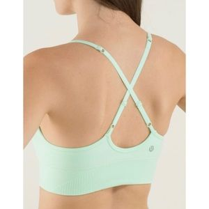 LULULEMON Ebb to Street Fresh Teal Sport Bra